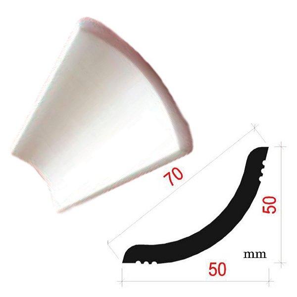 """Moldura RodaTeto de isopor modelo U70 """"Liso de fabrica"""" ( valor por metro )"""