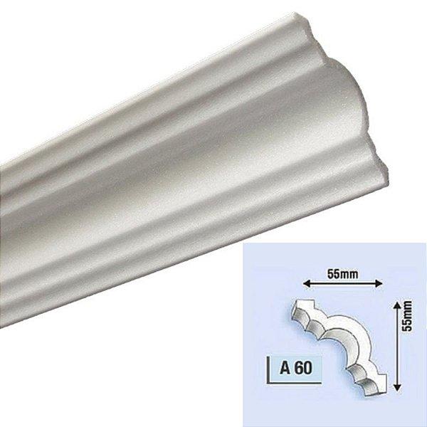 "Moldura RodaTeto de isopor modelo ""Liso de fabrica""- a60 ( valor por metro )"