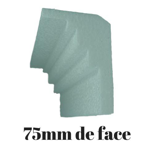 Moldura RodaTeto de isopor modelo M05 - 75mm de face ( valor por metro)