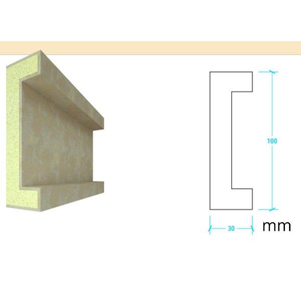 EPS com Revestimento modelo I109 - 100m de face ( valor por metro)