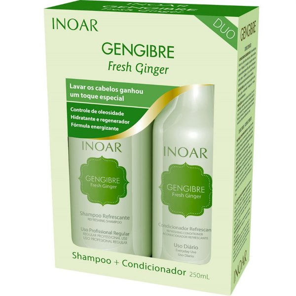 Inoar Kit Gengibre - Shampoo e Condicionador 250ml