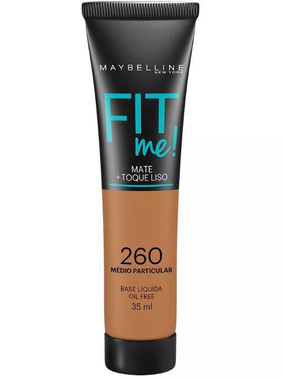 Maybelline Fit Me! Matte - Base Liquida, 260 Médio Particular 35ml