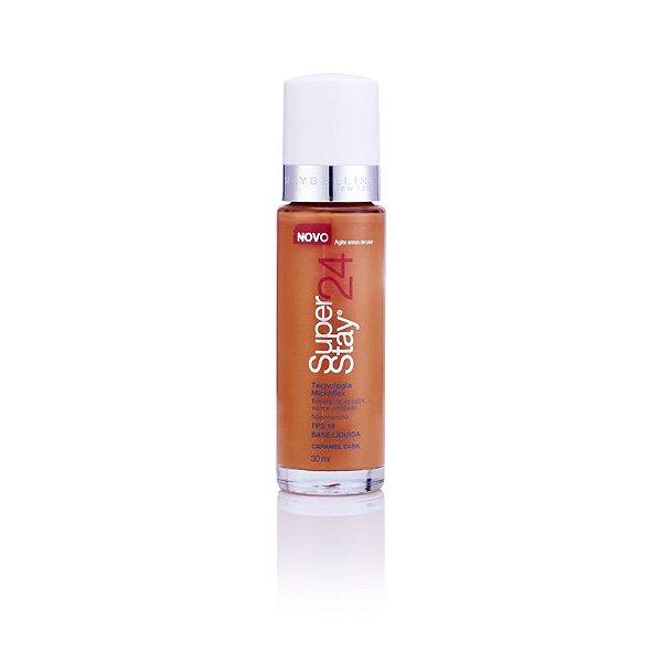 Maybelline SuperStay 24h - Base Liquida Facial - Caramel Dark