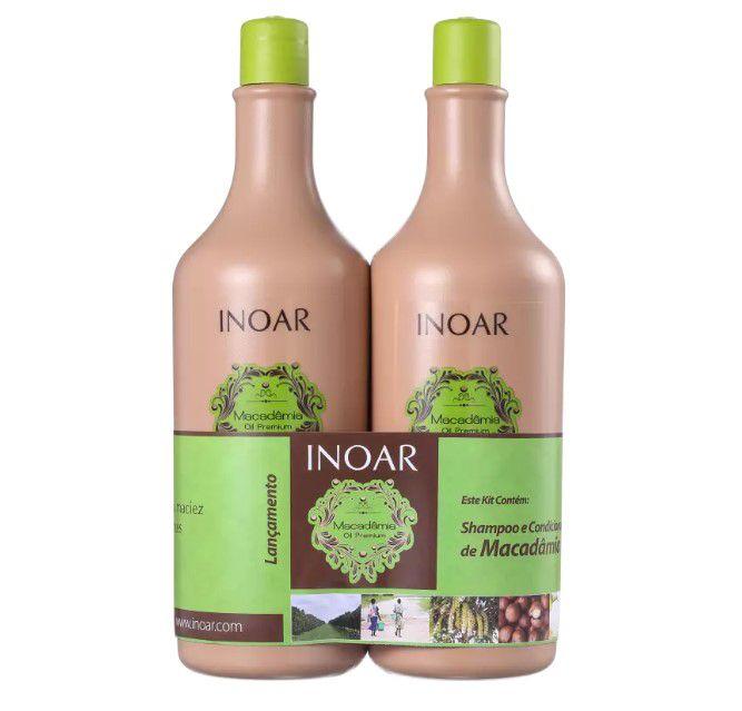 Inoar Kit Macadamia Oil - Shampoo e Condicionador 1000ml