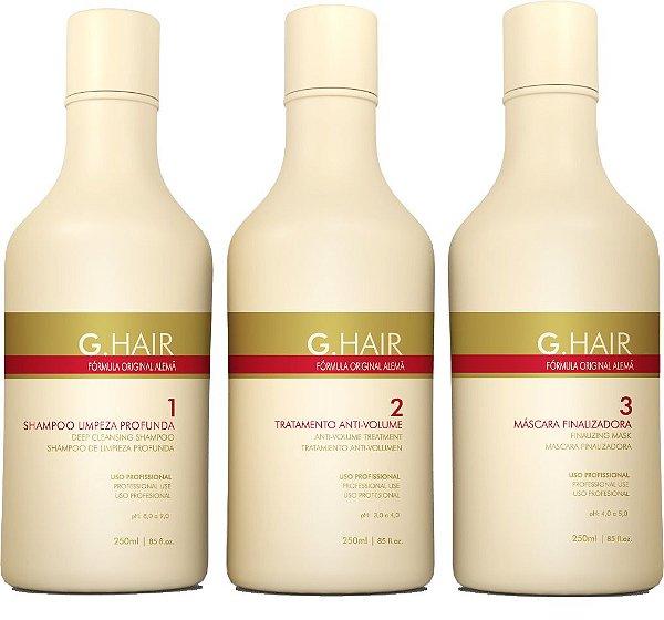 G.Hair Kit Escova Alemã - 3 Produtos 250ml