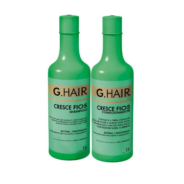 G.Hair Kit Cresce Fios - Shampoo e Condicionador 1000ml