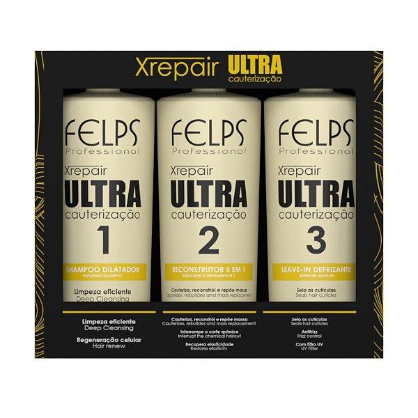 Felps Xrepair - Kit Ultra Cauterização 3x250ml