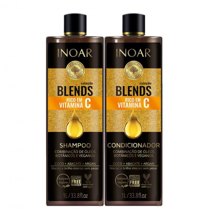 Inoar Kit Coleção Blends - Shampoo e Condicionador 1000ml