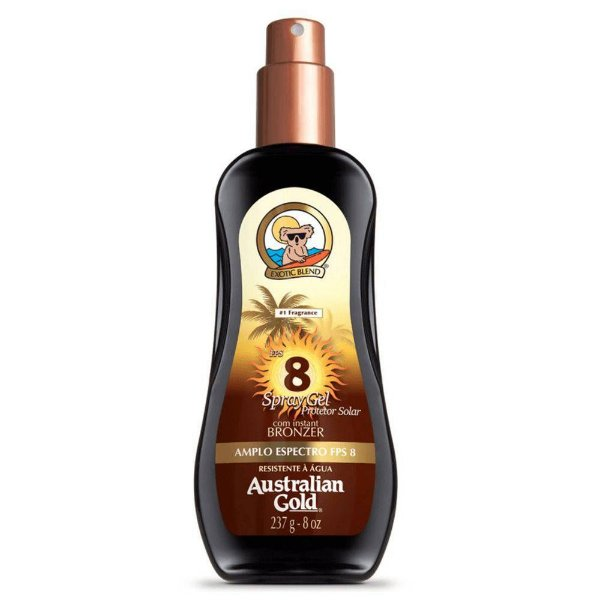 Australian Gold FPS 8 - Protetor Spray Gel 237g