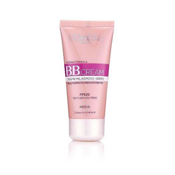 L'Oréal Paris Creme Milagroso 5 em 1 FPS 20 Média - BB Cream 30ml