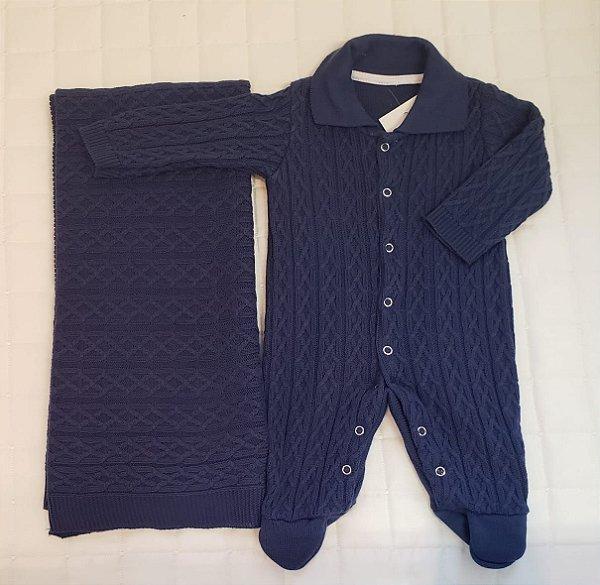 Saida De Maternidade  Tricot - Azul M2