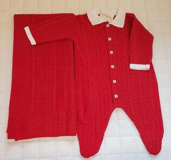 Saida De Maternidade  Tricot - Vermelha M1