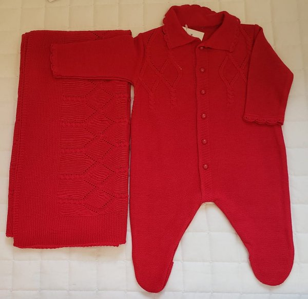 Saida De Maternidade  Tricot - Vermelha M2