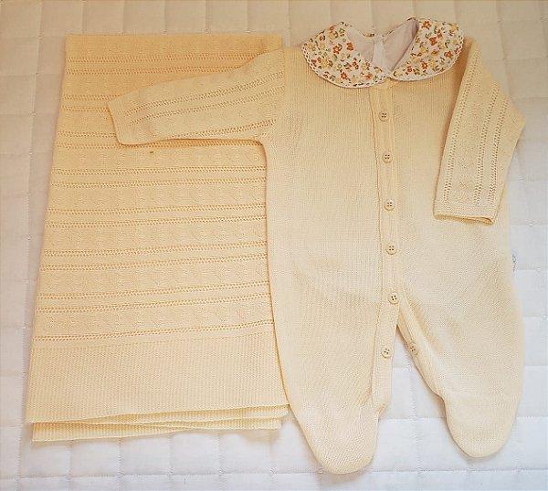 Saida De Maternidade  Tricot Com Body- Amarela