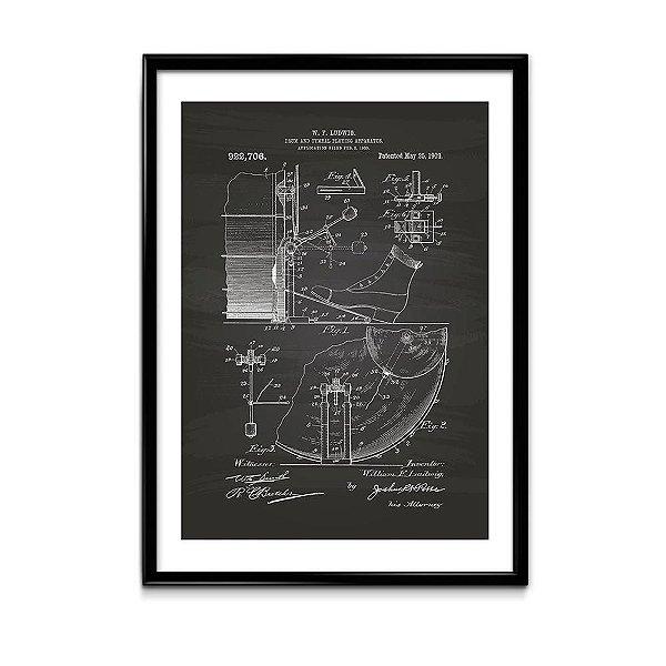 Quadro Patente Pedal Ludwig