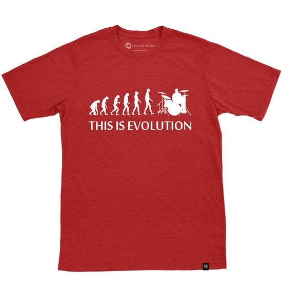 Camiseta This is Evolution Vinho