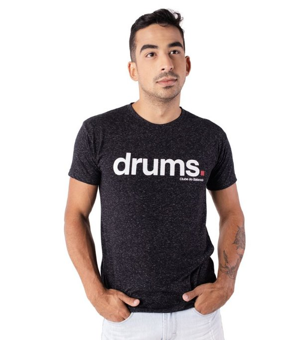 Camiseta Drums Preta Mescla