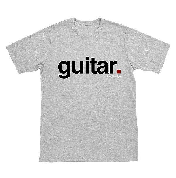 Camiseta Guitar Cinza Mescla