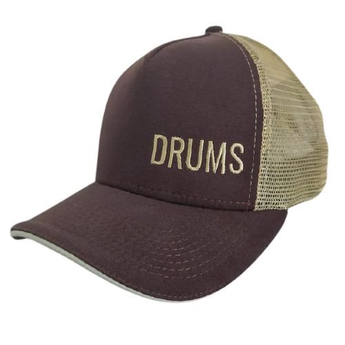 Boné Drums Aba Curva com tela - Marrom e Bege