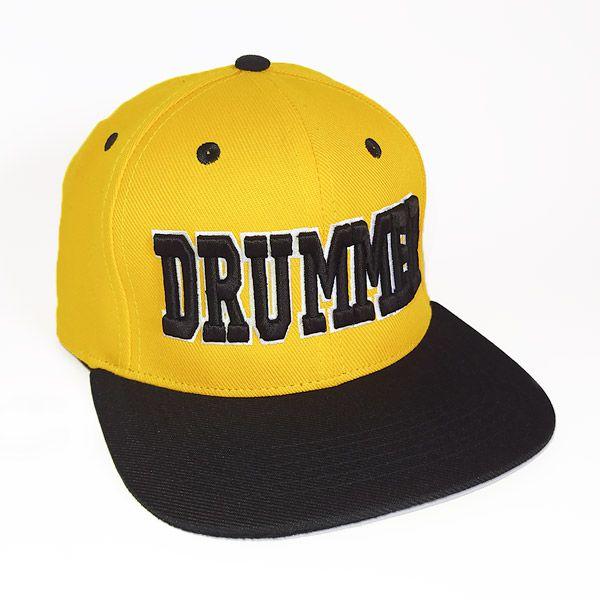Boné Drummer Aba Reta Amarelo e Preto