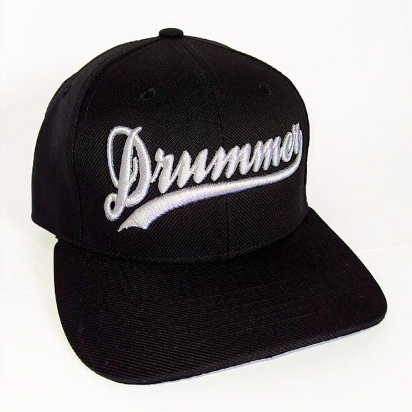 Boné Drummer aba curva - Preto e Branco