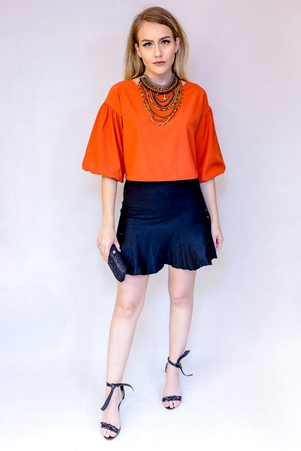 BLUSA CROPPED CORAL