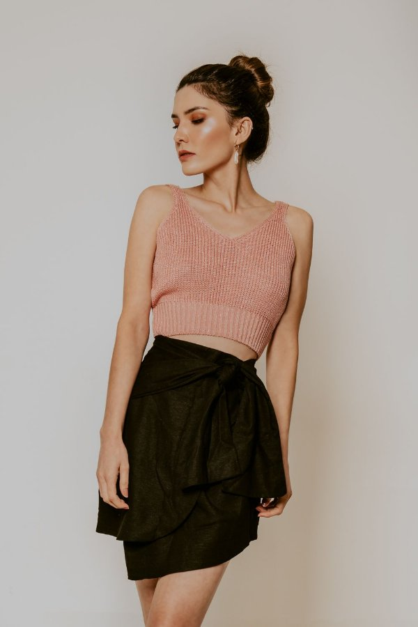 CROPPED TRICOT ROSA