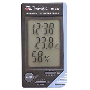 Termo-Higrômetro Relógio Digital Interno – MT-242 – Minipa