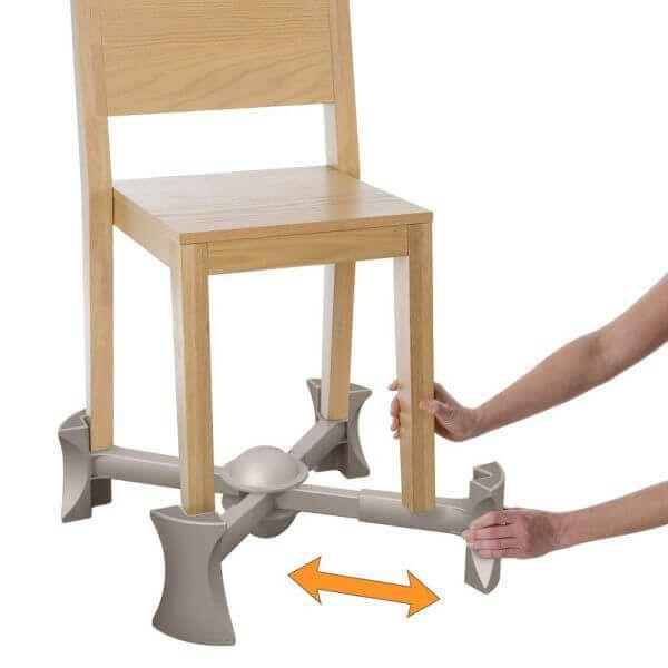 Base Extensora Portátil para Cadeiras Natural - Kaboost: