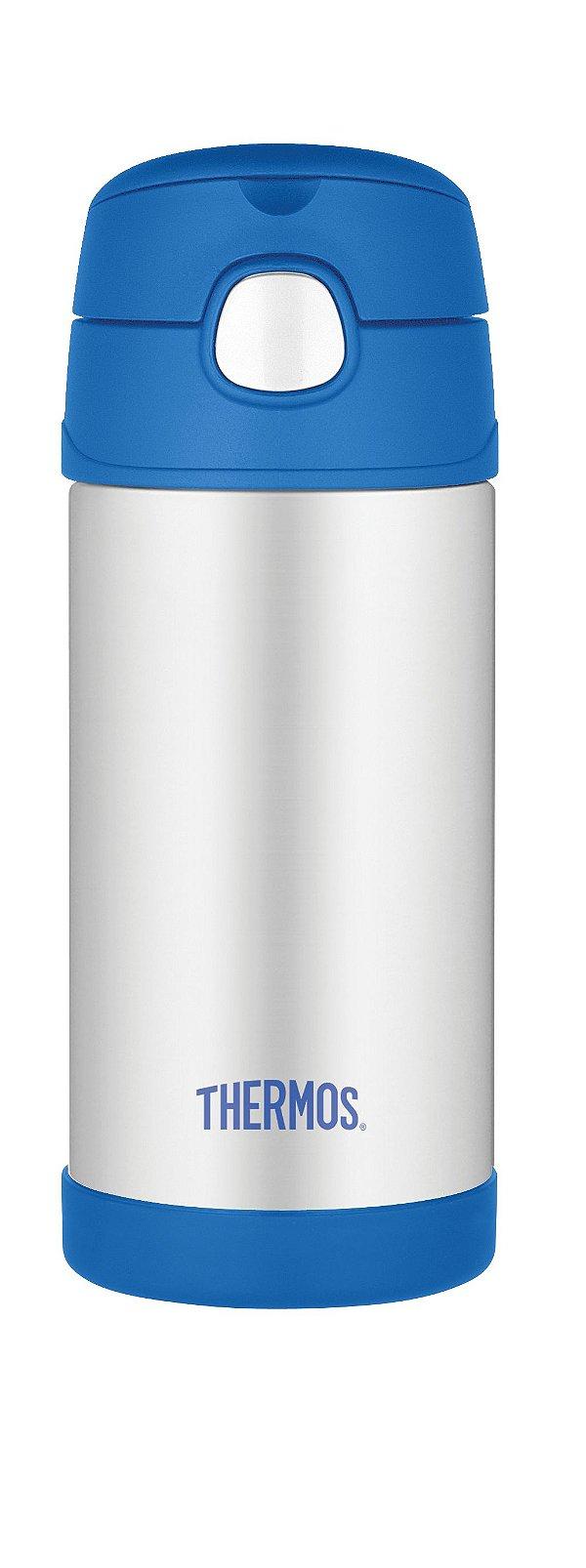 Garrafinha Térmica Funtainer Azul e Inox - Thermos