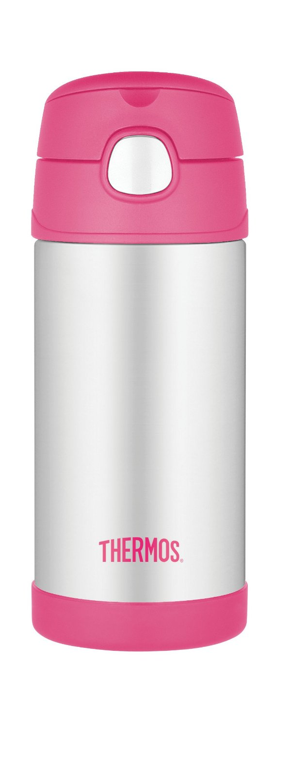 Garrafinha Térmica Funtainer Rosa e Inox - Thermos