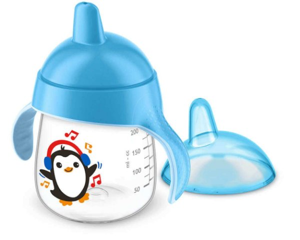 Copo Treinamento Pinguim 260ml Azul (12 meses) - Philips Avent