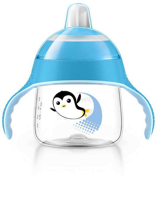Copo Treinamento Pinguim 200ml Azul (6 meses) - Philips Avent