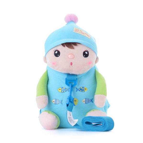 Mochila com alça de segurança Sweet Candy Bebe Azul - Metoo