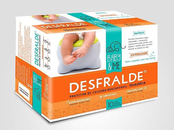 DESFRALDE - protetor absorvente e descartável para colchão (pcte com 10 uni) Baby and Me