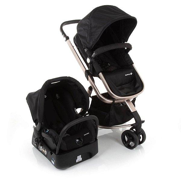 Carrinho de Bebê Travel System Mobi Ed Especial Black Rosé -  Safety 1st