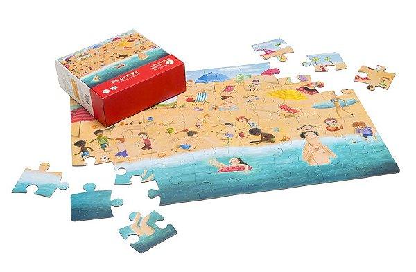 Quebra-Cabeça Gigante 48 peças Dia de Praia - Araquarela