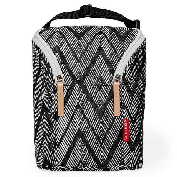 Bolsa Térmica para mamadeira - Double Bottle Bag (On the Go) Zig Zag Zebra- Skip Hop