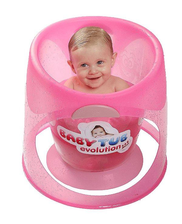 Banheira para Bebê Evolution Rosa - Baby Tub