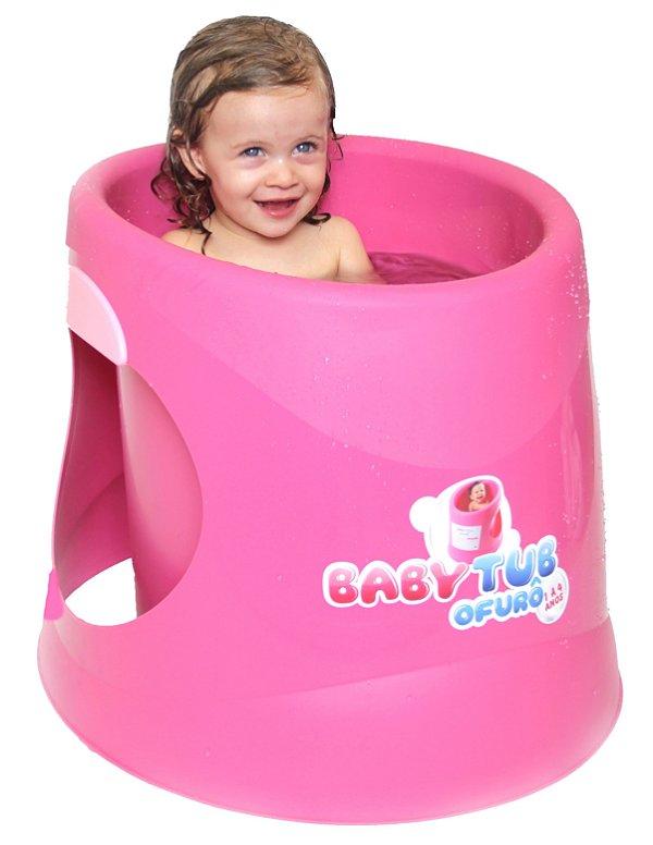 Banheira Ofurô Rosa - Baby Tub