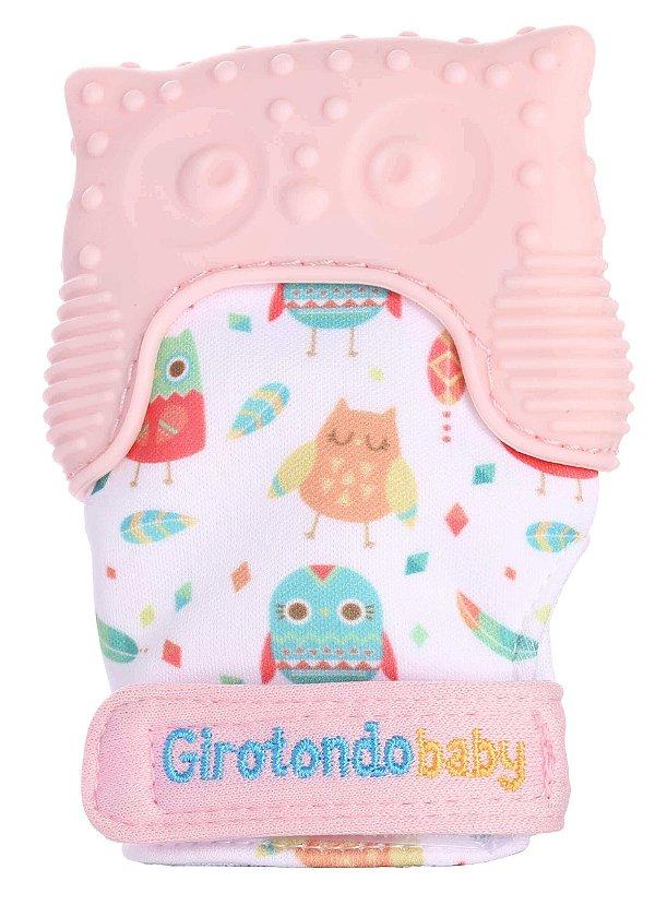 Mordedor Infantil Luva Coruja Rosa - Girotondo Baby