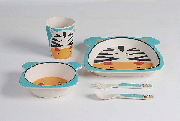 Kit Alimentação Zebra  5pcs - Girotondo Baby