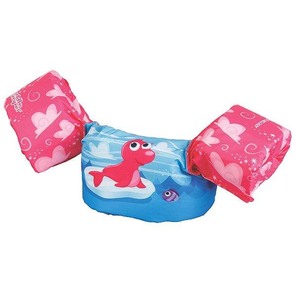 Boia Infantil Puddle Jumper Colete Foca Rosa - Puddle Jumper