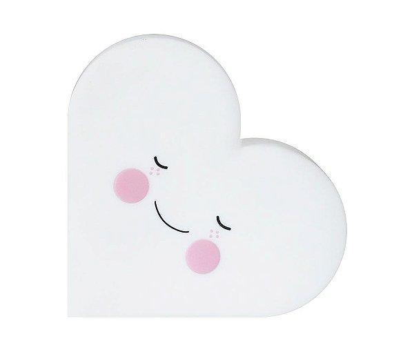 Luminária Led sem fio Infantil Coração - Eef-Branco