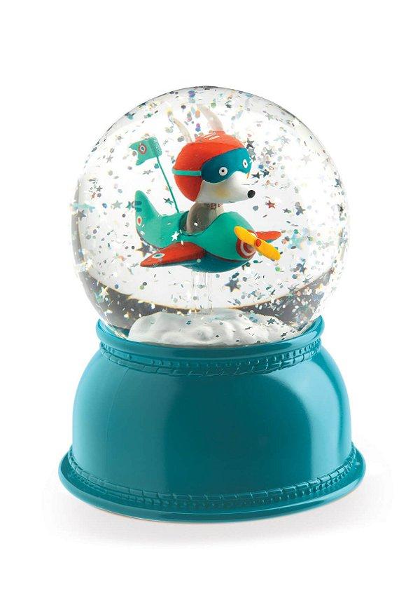Luminária Bola de Neve Avião - Djeco