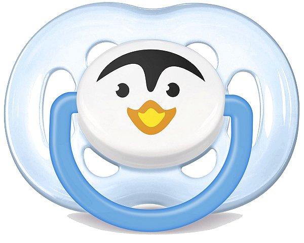 Chupeta Freeflow Ortodôntica Pinguim 6-18 meses - Philips Avent