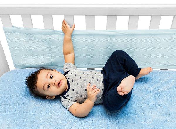 Protetor de Berço Air Baby Azul - Kababy
