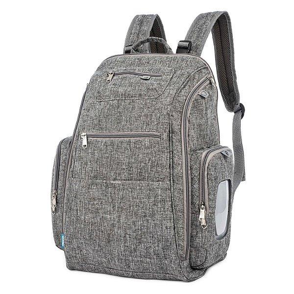Bolsa Maternidade  Backpack  Cinza - Kababy