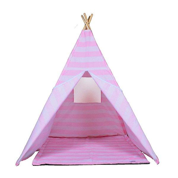 Cabana Listrada Rosa c/ Tapete - Hello Foxy