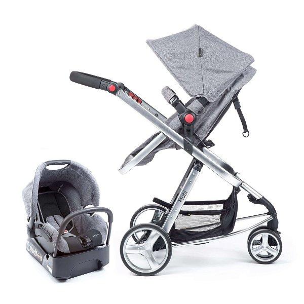Carrinho de Bebê Travel System Mobi Grey Denin Silver -  Safety 1st